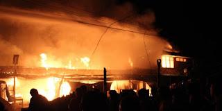 Peristiwa kebakaran yang melanda pasar