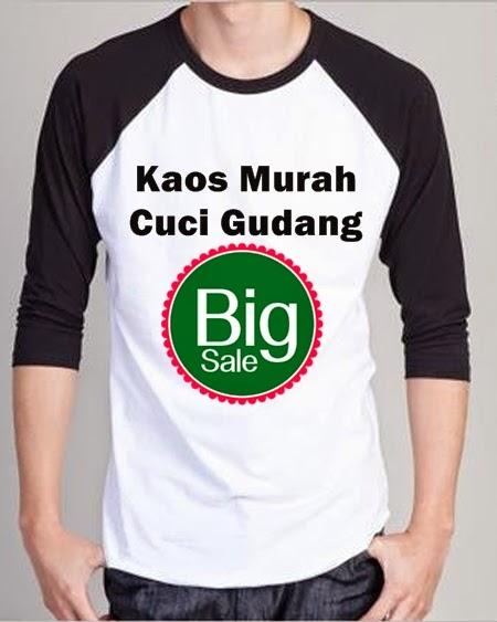 Kaos Distro GO Murah Cuci Gudang