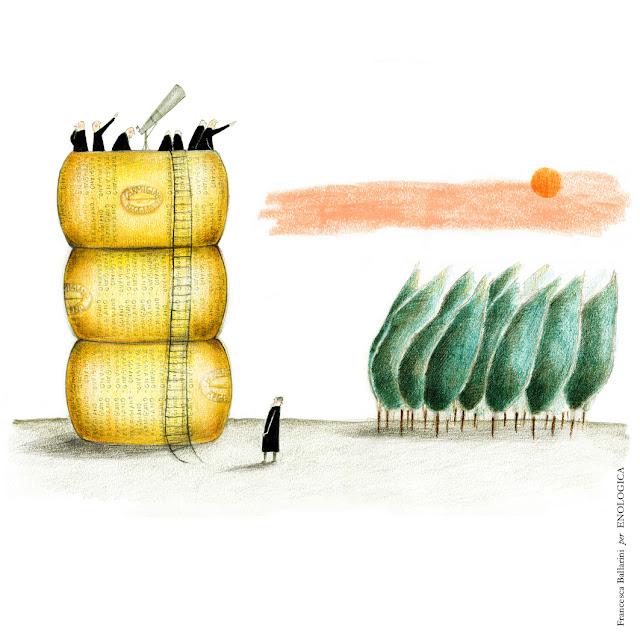 parmigiano reggiano illustrazione francesca ballarini