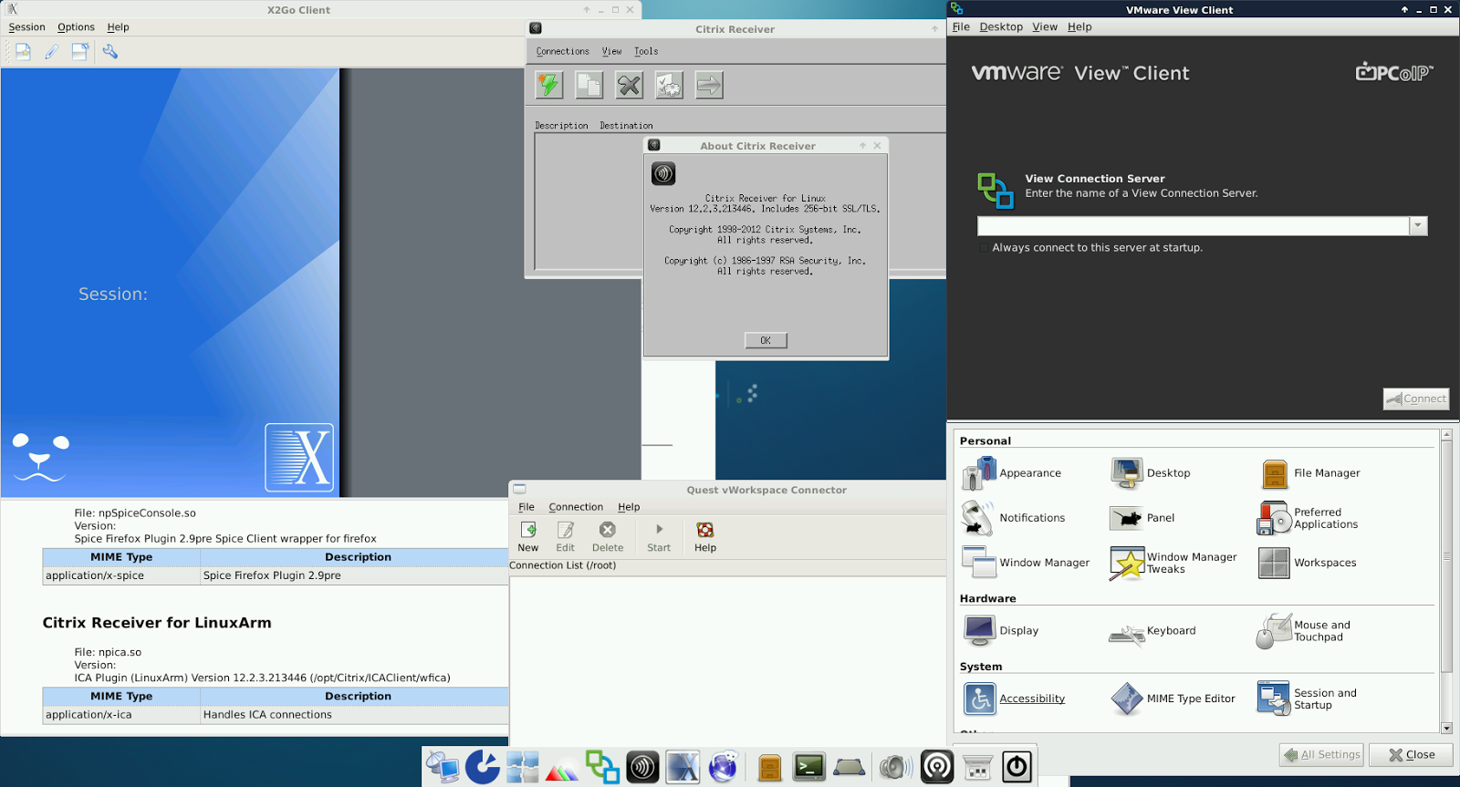 Raspberry Pi Thin Client project: RPi-TC ARMv6j Release 3 XFCE