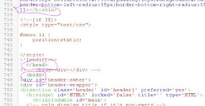 Perbaikan Blogger Template HTML Editor Dari Blogger Buzz
