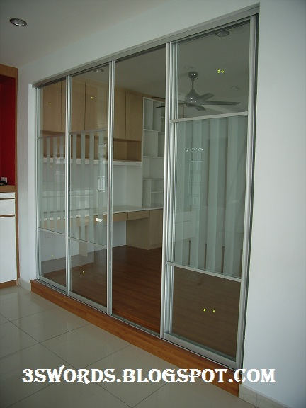 Aluminium work  indoor alumimiun sliding door and space divider |