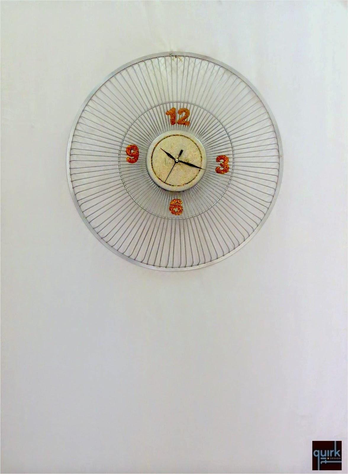Quirk It Design_Sun Burst Wall Clock__DIY_Quirky_Home_Decor