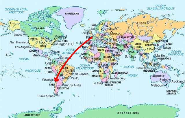 Chili carte du monde carte 2018 - Tapisserie carte du monde ...