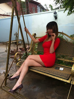 Votey Teav Khmer Girl Sexy Red Robe 2