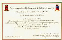 Ancona 23 ottobre 2014.Confrenza. Le unità di Fanteria dal nome marchigiano nella I Guerra Mondiale