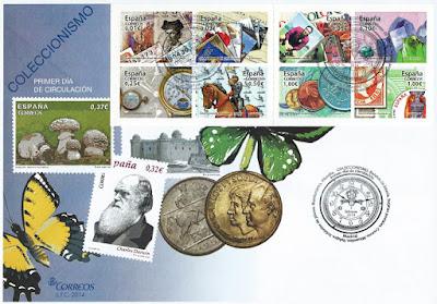 Sobre Primer Día de Circulación sellos coleccionismo 2014