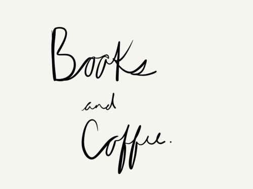 coffee, books, typography