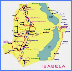 Map of  Nueva Vizcaya and Isabela