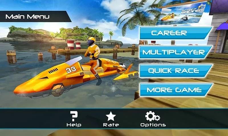 Android Motorlu Tekne Yarışı 3D Apk resimi