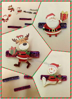 How to make Christmas Style Hairclips on french barrettes