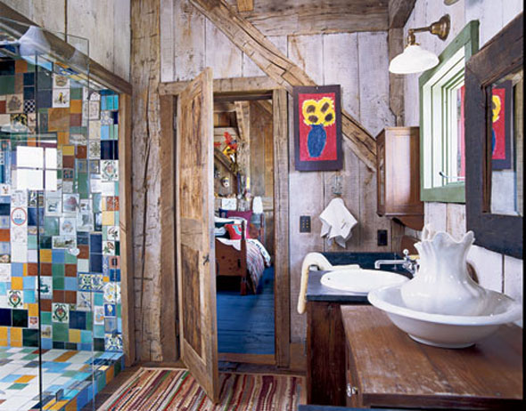 decoracion de interiores rusticos economicos:Diário de Uma Quase . . .: Banheiros Rústicos