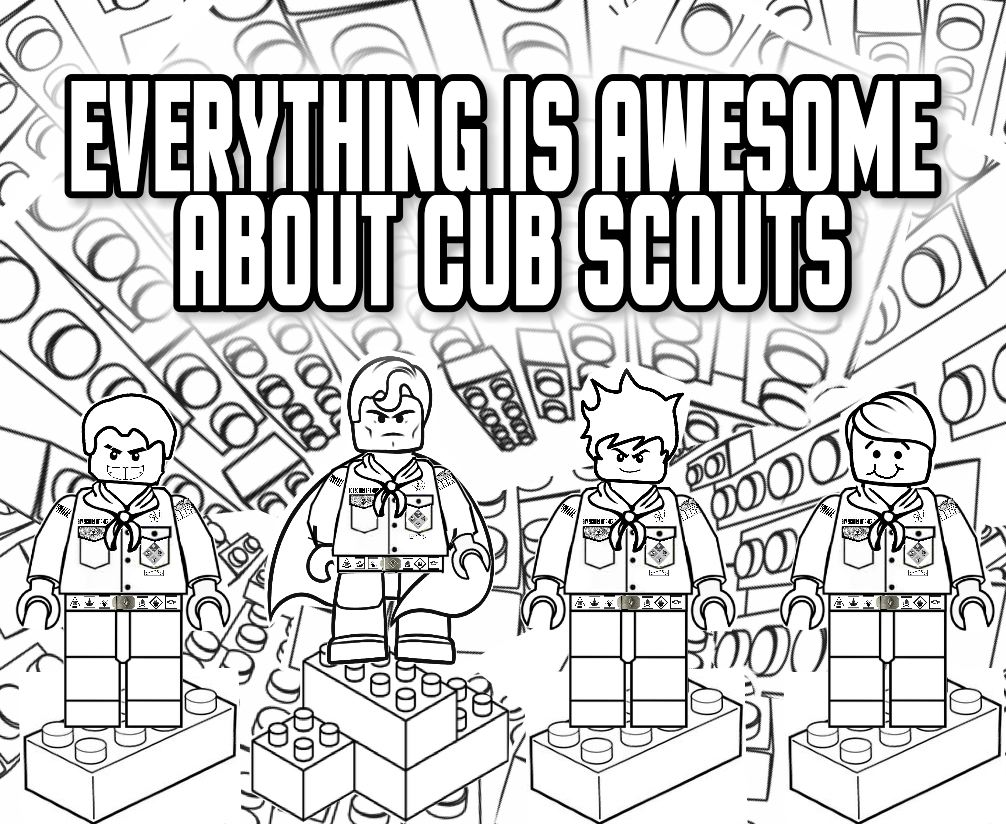 Printables Cub Scout Worksheets akelas council cub scout leader training january 2016 everything is awesome about scouts lego coloring page great for the blue gold banquet or a regular pack meeting free printab