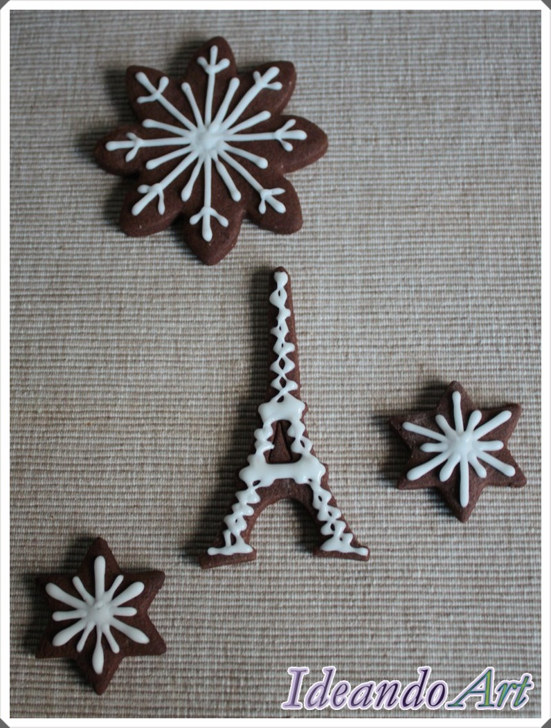 Galletas Torre Eiffel chocolate