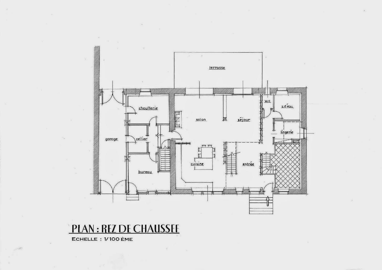 Plan maison 1 chambre rdc for Plan maison 3 chambres