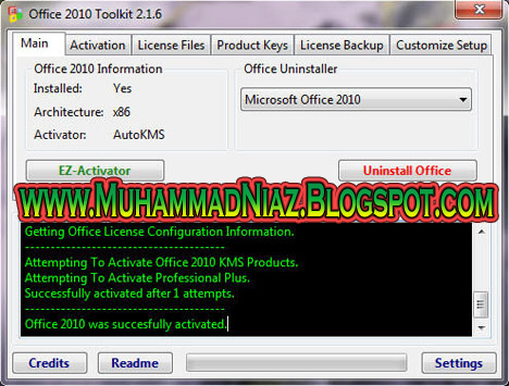 microsoft office 2010 toolkit and ez-activator