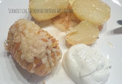 Schwedische Fächerkartoffeln mit Quark