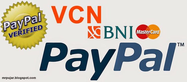 verifikasi paypal menggunakan VCN BNI