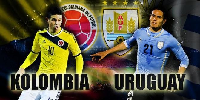 Prediksi Skor (Line-Up) Kolombia vs Uruguay 29 Juni 2014 | Piala Dunia (16 Besar)