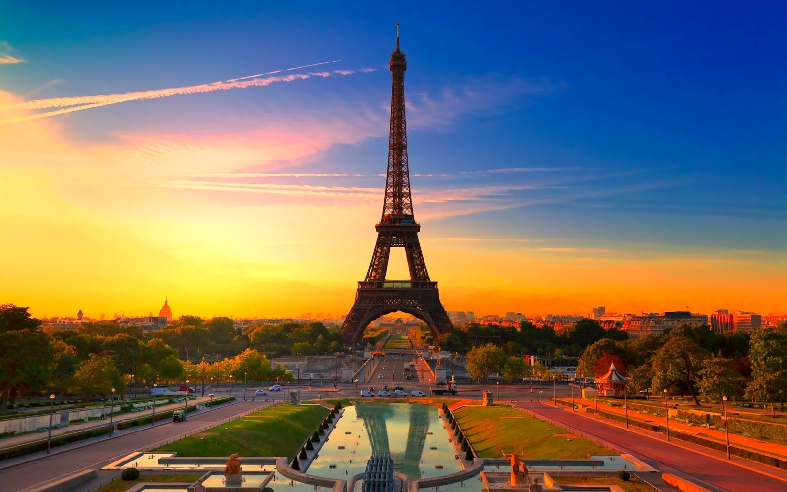 The Eiffel Tower at Sunset - Paris, France
