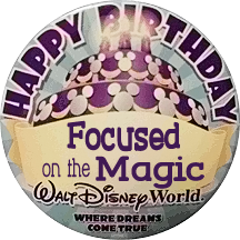 Free Disney Parks Happy Birthday Button