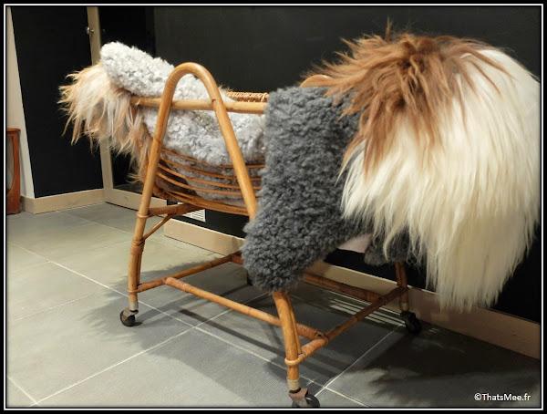 Jippi Design norvégien Peaux mouton renne meuble scandinave landau