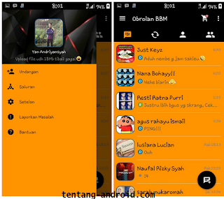 BBM Orange Dark Simple v.2.9.0.45 Apk