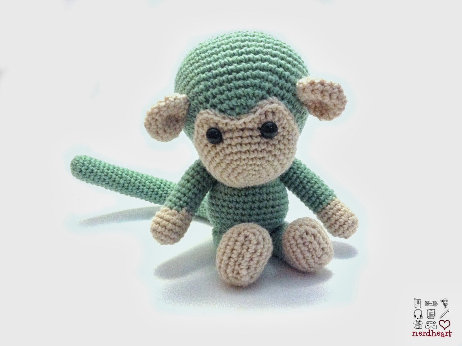 Nerdheart Crochet Monkey And Experimenting With A Light Box