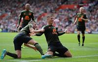 Everton Selebrasi saat mengalahkan Southampton