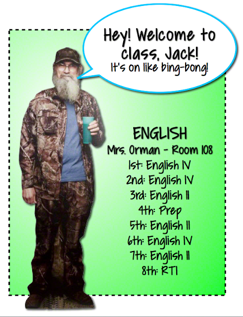 "Si says, ""Welcome to class, Jack!""  Click to read more about connecting with your students."