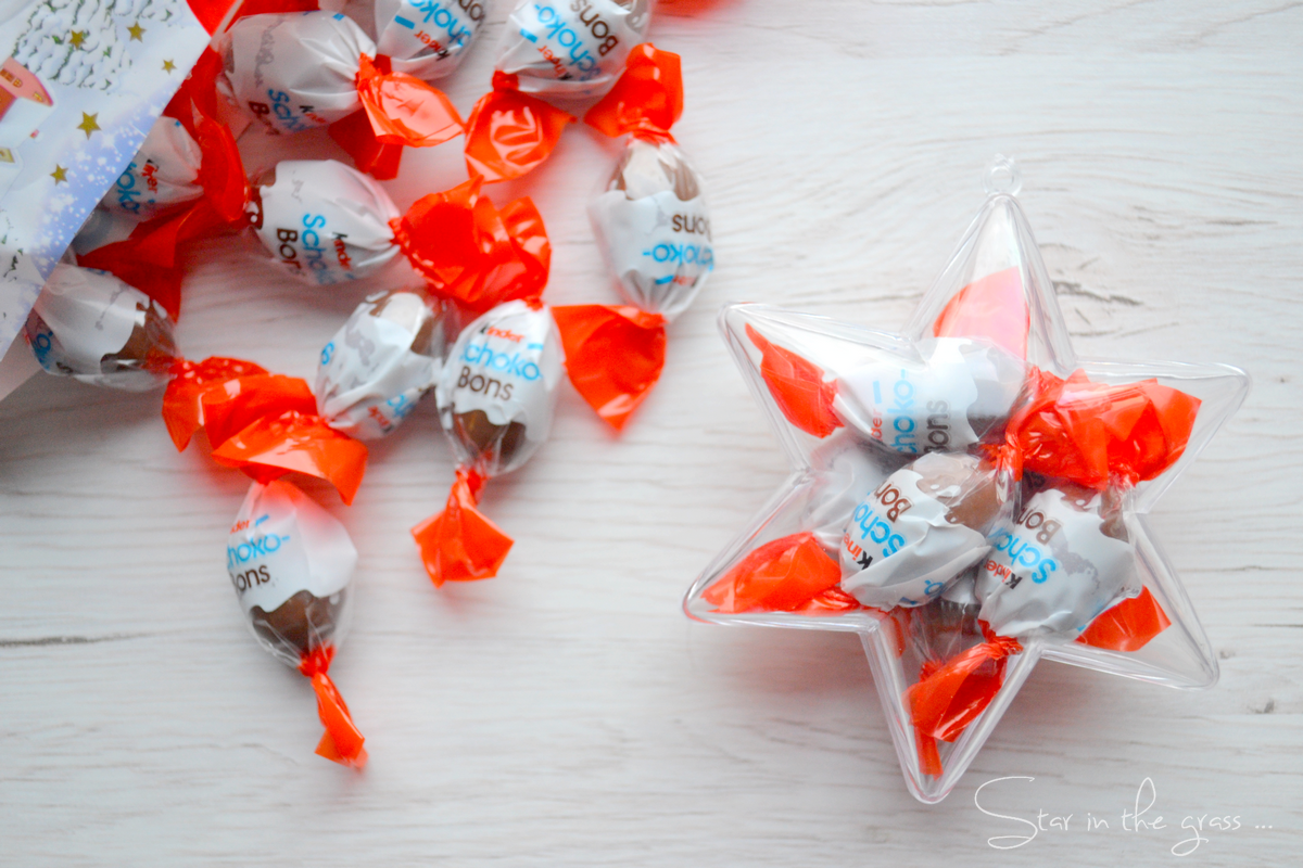 DIY boule de Noël chocolats schockobons Kinder