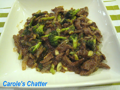 Broccoli Beef Stir Fry:  Carole's Chatter