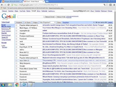 tampilan gmail standar