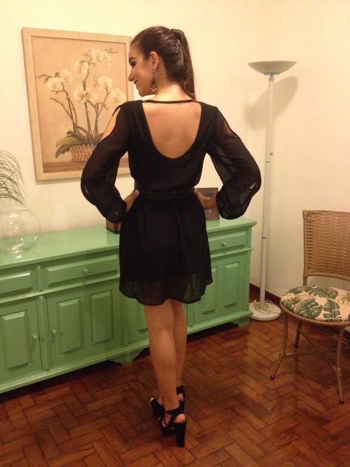 Vestido preto para missa de formatura