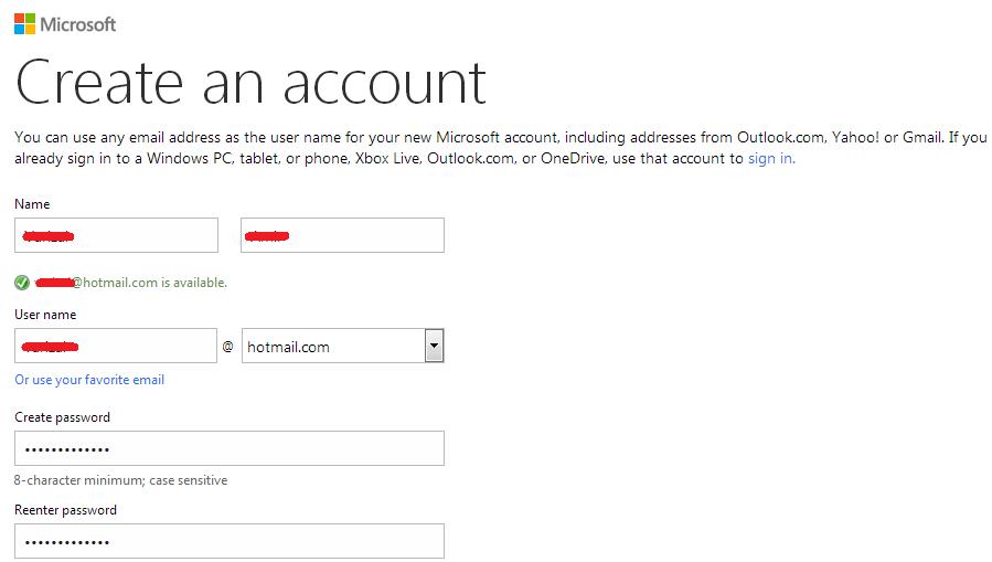 Cara daftar email di Microsoft Hotmail