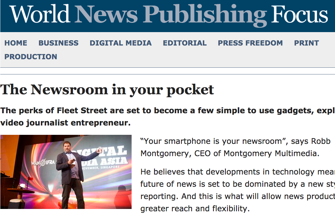 The Newsroom in Your Pocket
