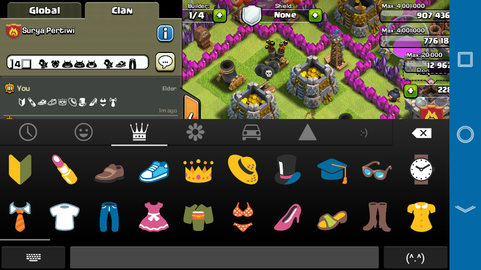 coc how to change global chat