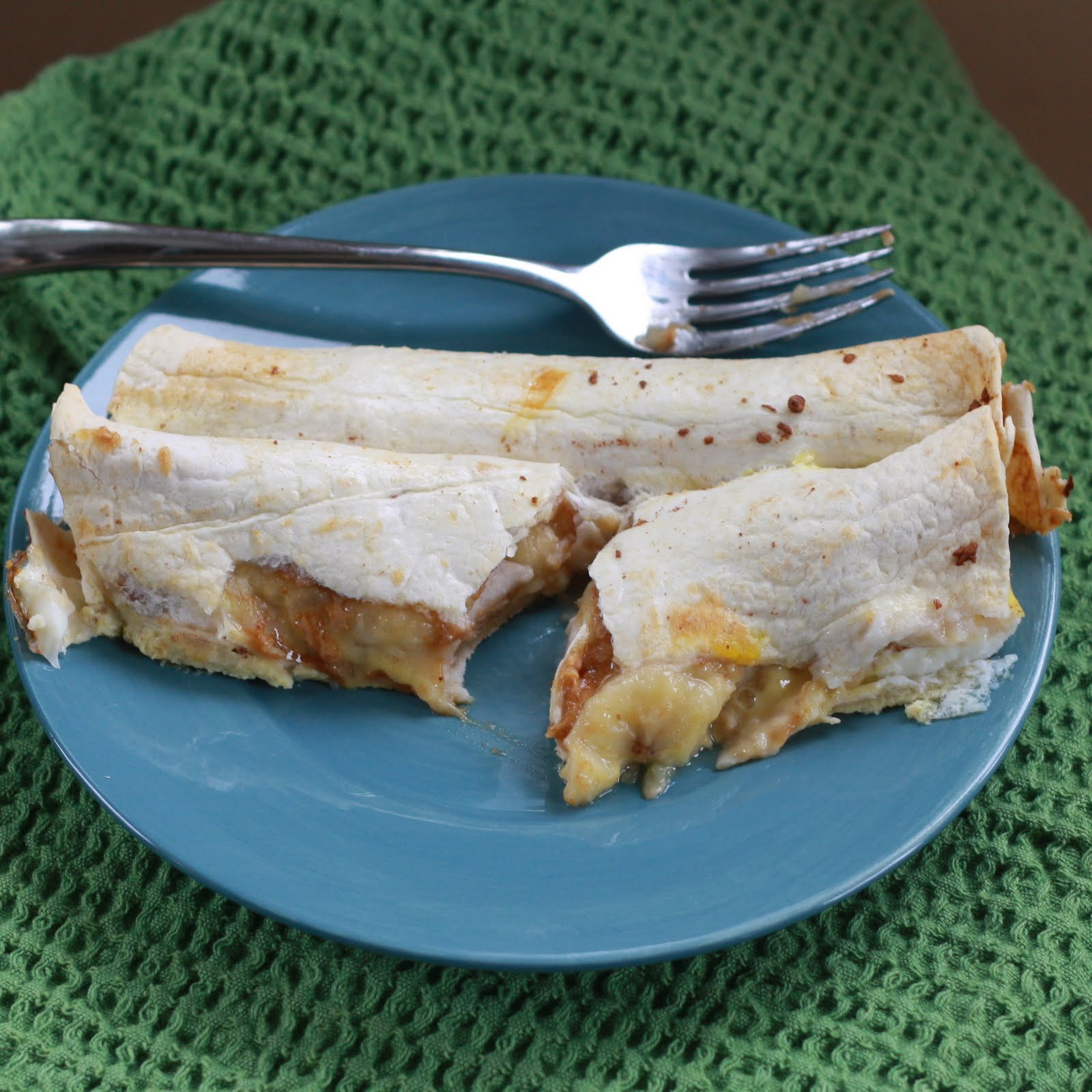 Peanut Butter Banana French Toast Enchiladas