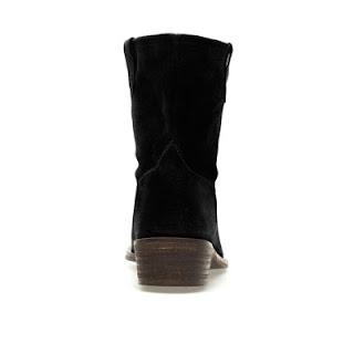 women black flat cowboy ankle