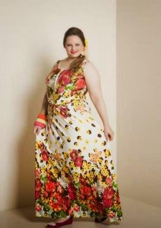vestido estampado para gordas - fotos e modelos