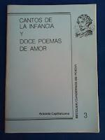 Antonio Capilla, CANTOS DE LA INFANCIA Y DOCE POEMAS DE AMOR
