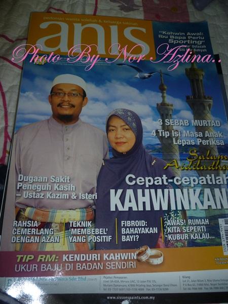 ternampak majalah Anis di tesco gambar hadapan ialah Ustaz kazim
