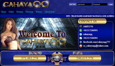 Cahayaqq.Com Agen Poker Dan Domino Online Duit Asli Terpercaya