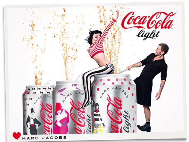 Aniversário de 30 anos da Coca-Cola Light com Marc Jacobs