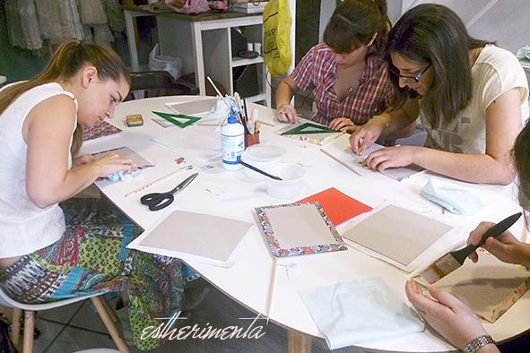 curso de encuadernado copto, you&me y La Milanesa