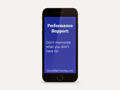 performance support don't memorize what you don't have to