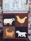 """No room at the Inn back"" Tablestand Quilt"