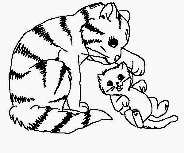 Disegni gatti da colorare for Immagini di gatti da colorare