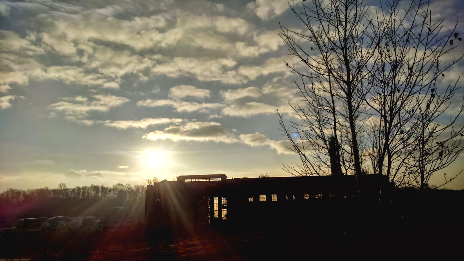 Dortmund Sonne Himmel Wolken strahlend Baum