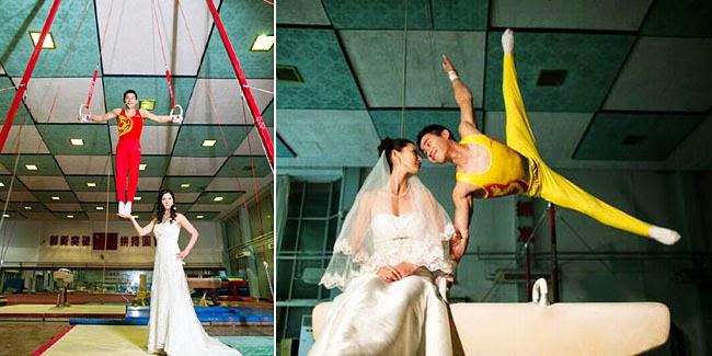 Foto Pre Wedding Atlet Senam Paling Romantis di Dunia